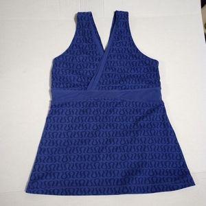 Lululemon Activewear Tank Logo Blue Purpl